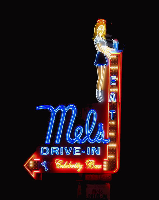 By Jllm06 - https://commons.wikimedia.org/wiki/File:Mel%27s_Drive-In_-_neon_sign.JPG, CC BY-SA 4.0, https://commons.wikimedia.org/w/index.php?curid=42754718